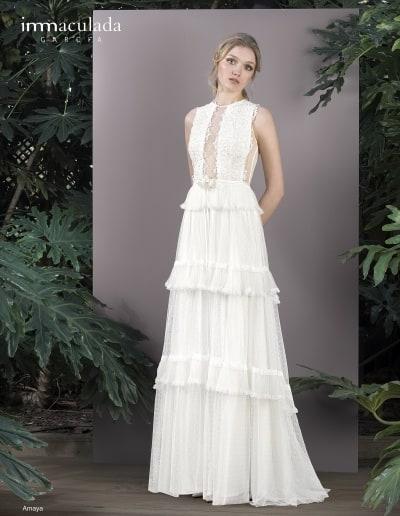 Bohémske svadobné šaty - Inmaculada Garcia - Amaya