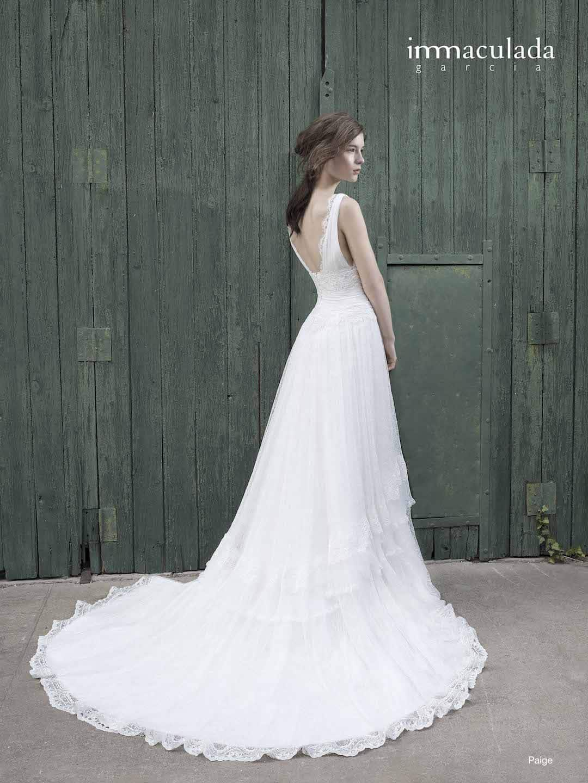 b613816974b3 Bohémske svadobné šaty od Inmaculada Garcia - Salon Isabell