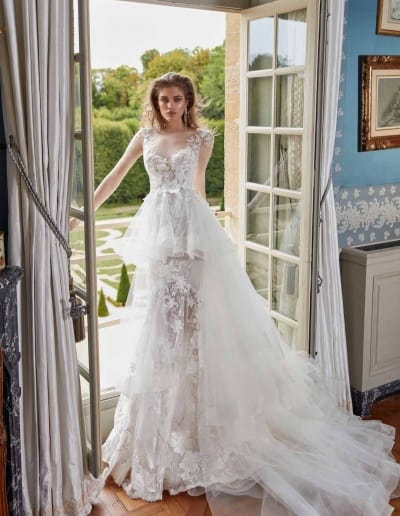 Galia Lahav Couture - Fancy White - Judy-front-with-cape