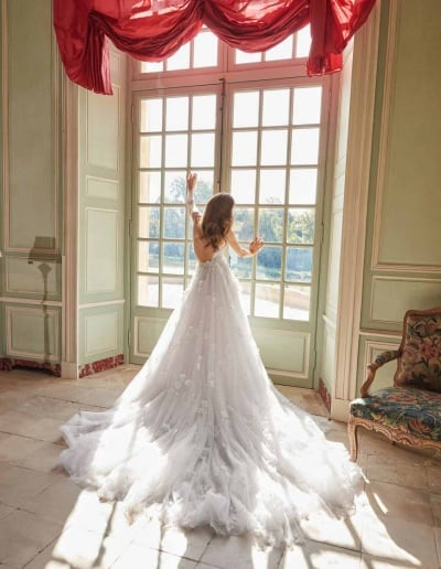 Galia Lahav Couture - Fancy White - Ruth-back-with-skirt