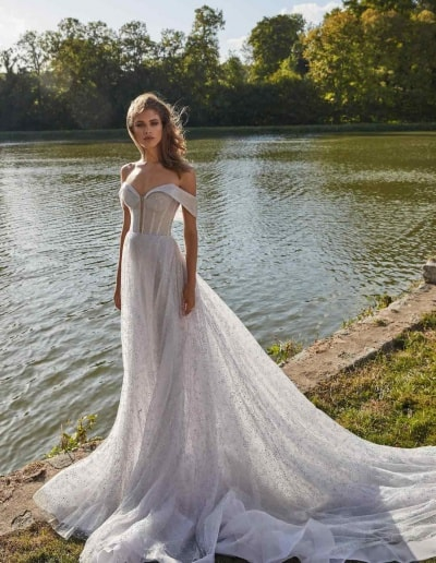 Galia Lahav Couture - Fancy White - Aretha-front