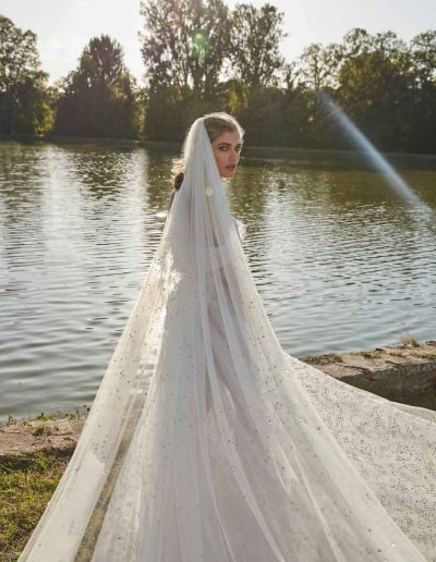 Galia Lahav Couture - Fancy White - Aretha-with-veil