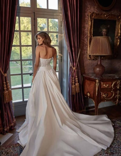 Galia Lahav Couture - Fancy White - Joanne-back-with-skirt