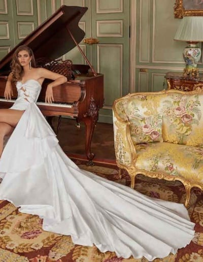 Galia Lahav Couture - Fancy White - Margaret-wide