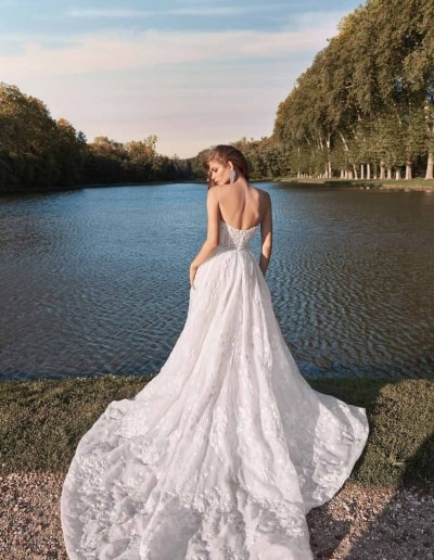 Galia Lahav Couture - Fancy White - Meghan-back