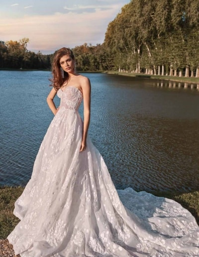 Galia Lahav Couture - Fancy White - Meghan-front