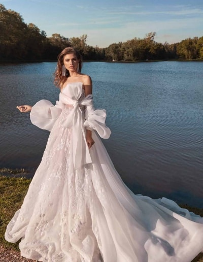 Galia Lahav Couture - Fancy White - Meghan-front-with-cape