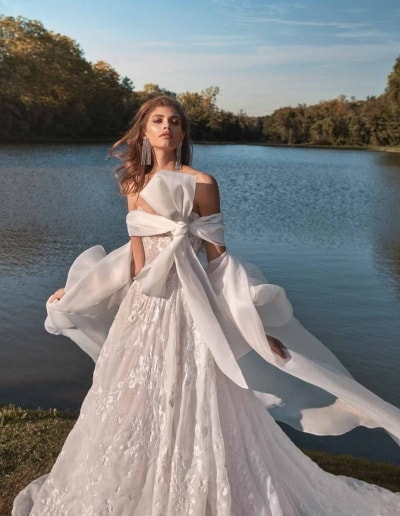 Galia Lahav Couture - Fancy White - Meghan-with-coat-mid