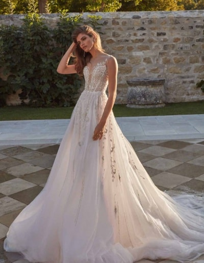 Galia Lahav Couture - Fancy White - Rosa-front