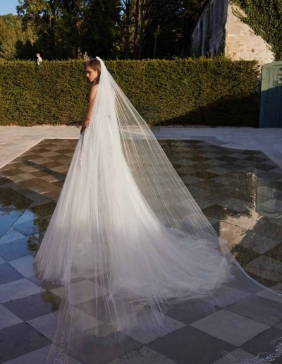 Galia Lahav Couture - Fancy White - Rosa-with-veil