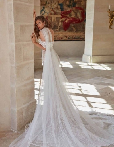 Galia Lahav Couture - Fancy White - Simone-back