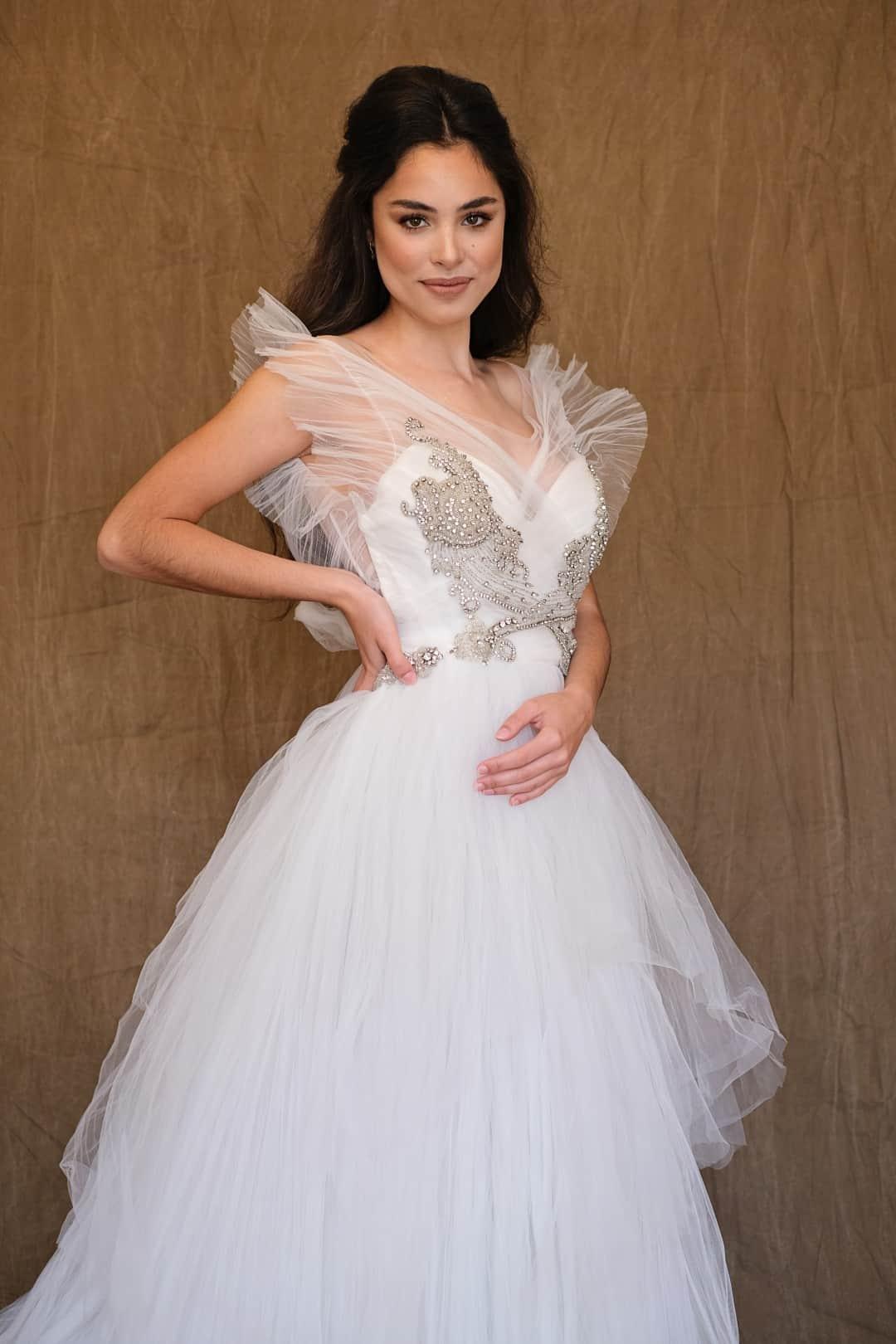 Jemné a romantické svadobné šaty - Marco&Maria - 14-1031-front-top