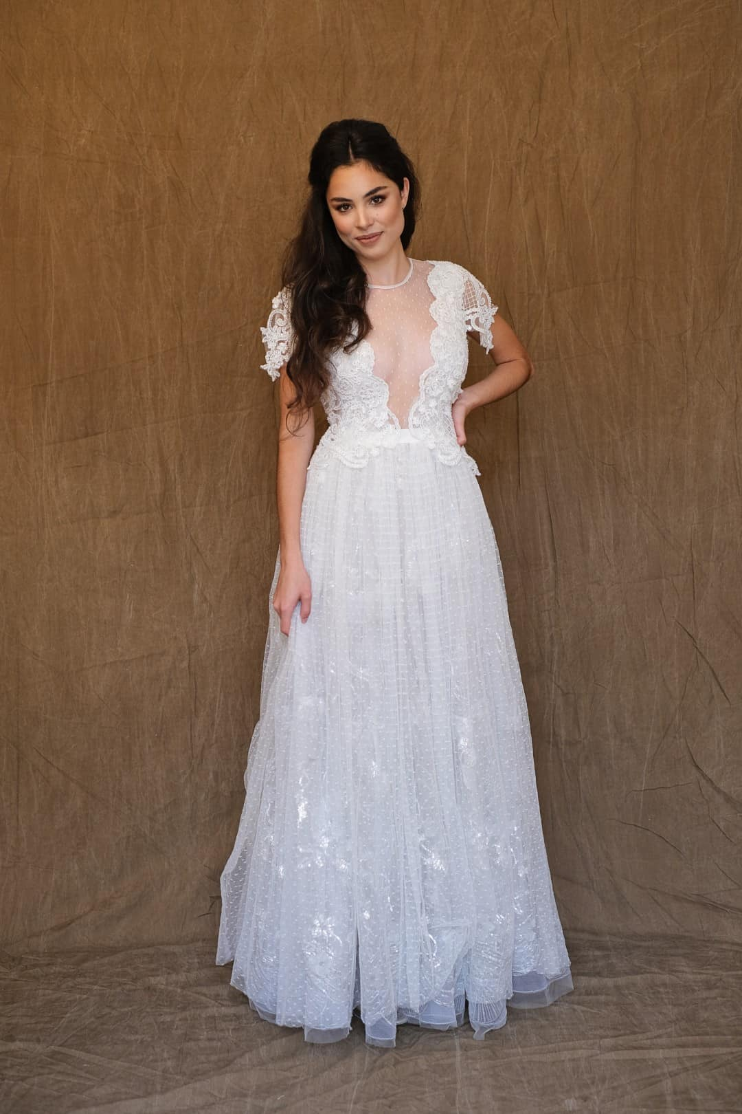 Jemné a romantické svadobné šaty - Marco&Maria - 2017-1007-front