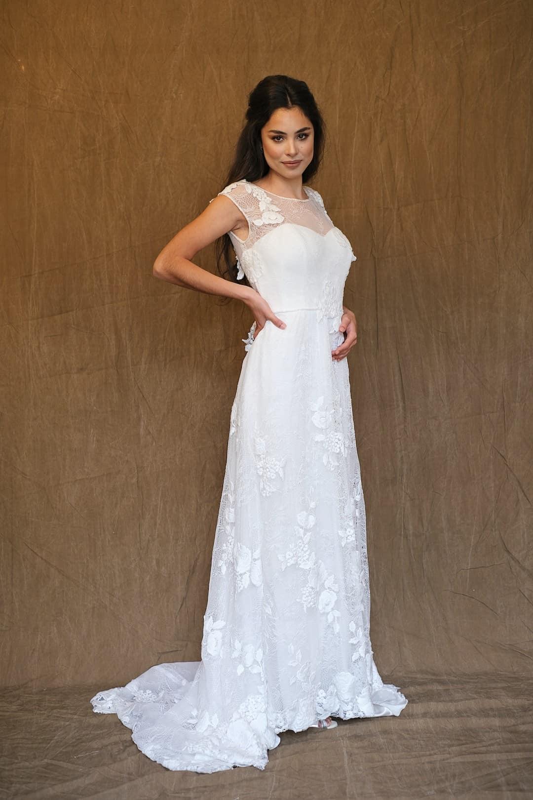 Bohémske svadobné šaty - Inmaculada Garcia - Erin - front