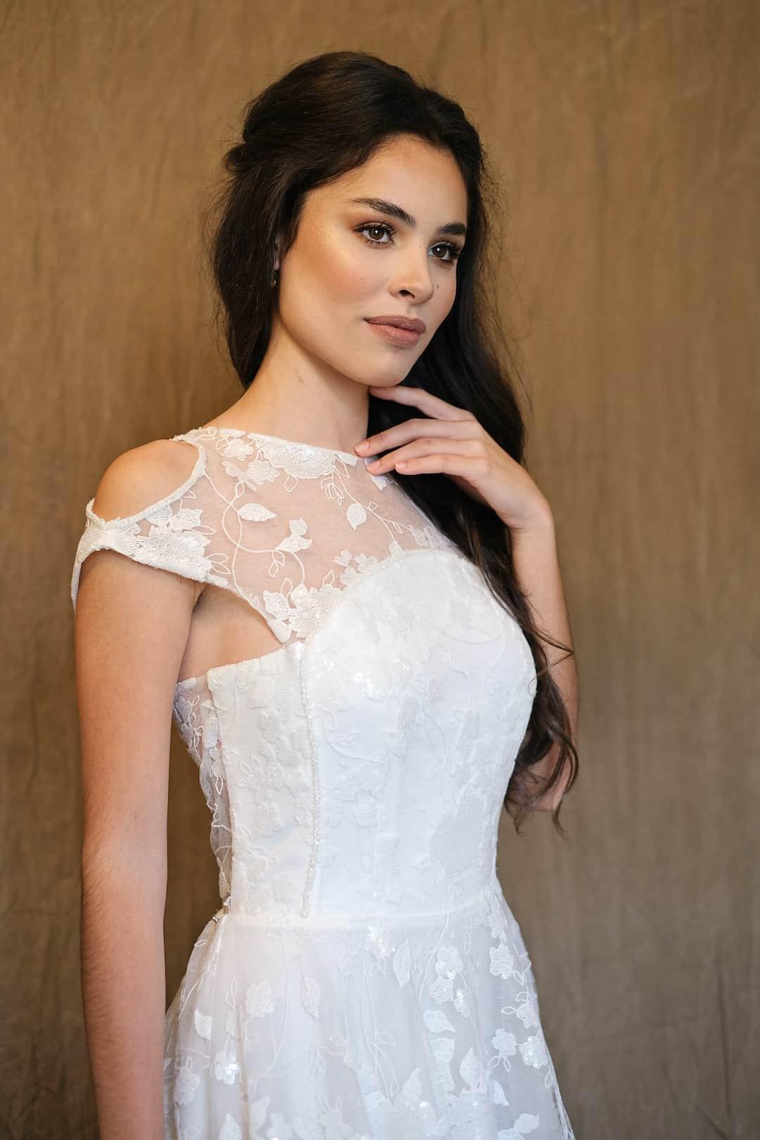 Bohémske svadobné šaty - Inmaculada Garcia - Izumi - front-top