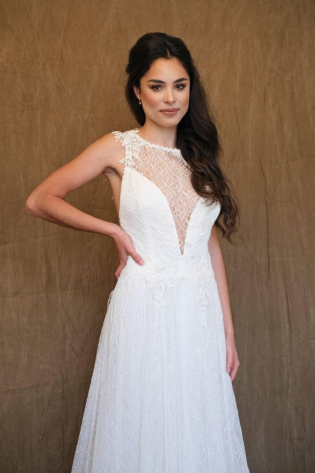 Bohémske svadobné šaty - Inmaculada Garcia - Ruri - front-top