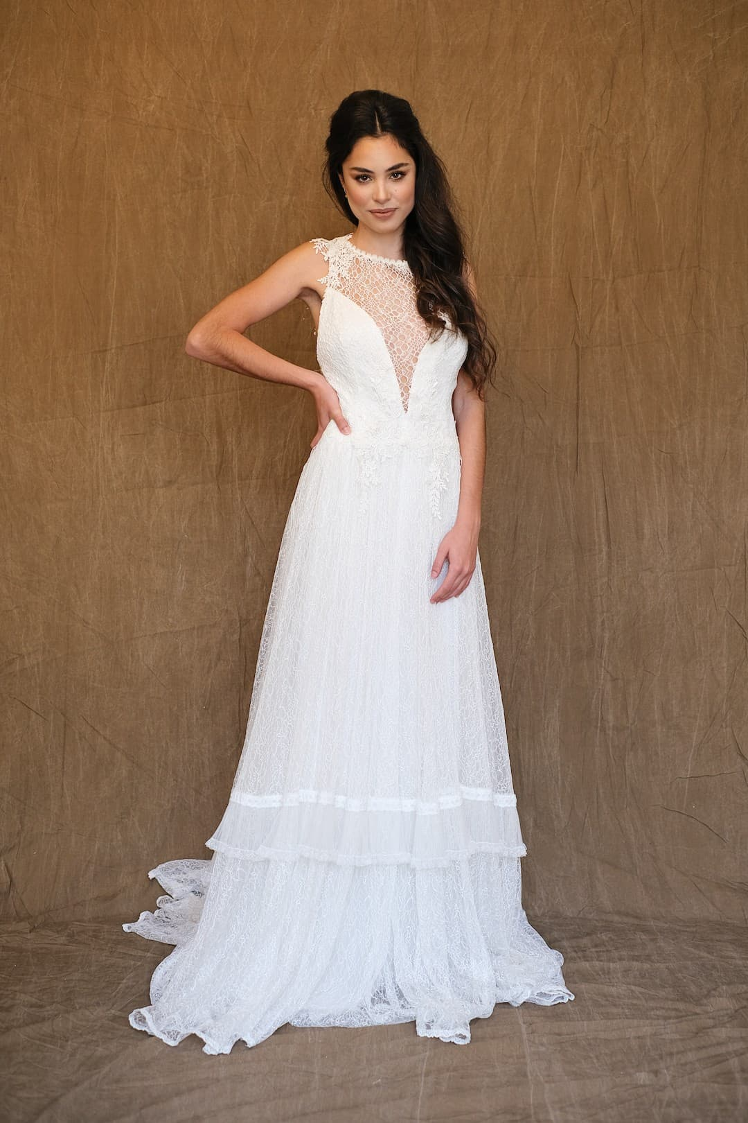 Bohémske svadobné šaty - Inmaculada Garcia - Ruri - front