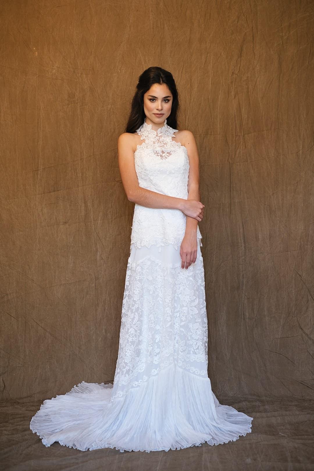 Bohémske svadobné šaty - Inmaculada Garcia - front