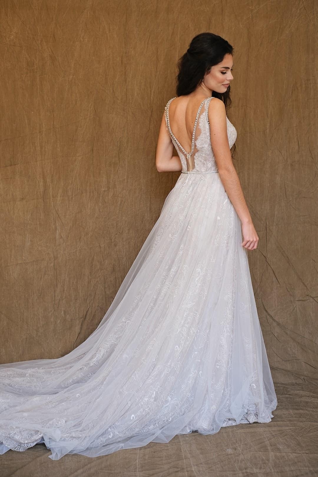Haute couture svadobné šaty - Galia Lahav - Gala 710 - back