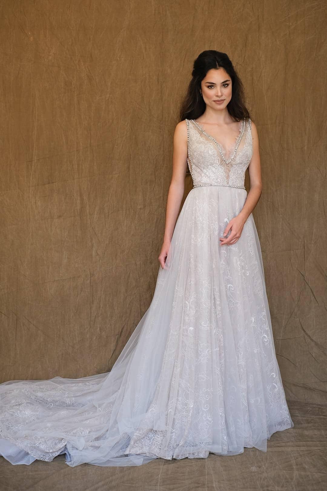 Haute couture svadobné šaty - Galia Lahav - Gala 710 - front