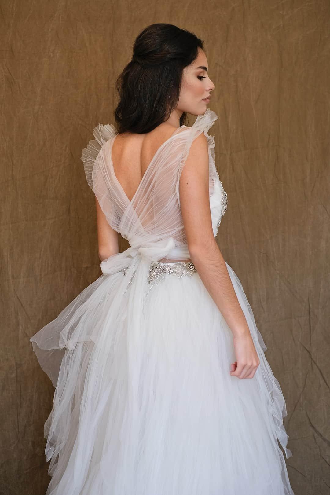 Romantic wedding dress - Marco&Maria - 14-1031-back