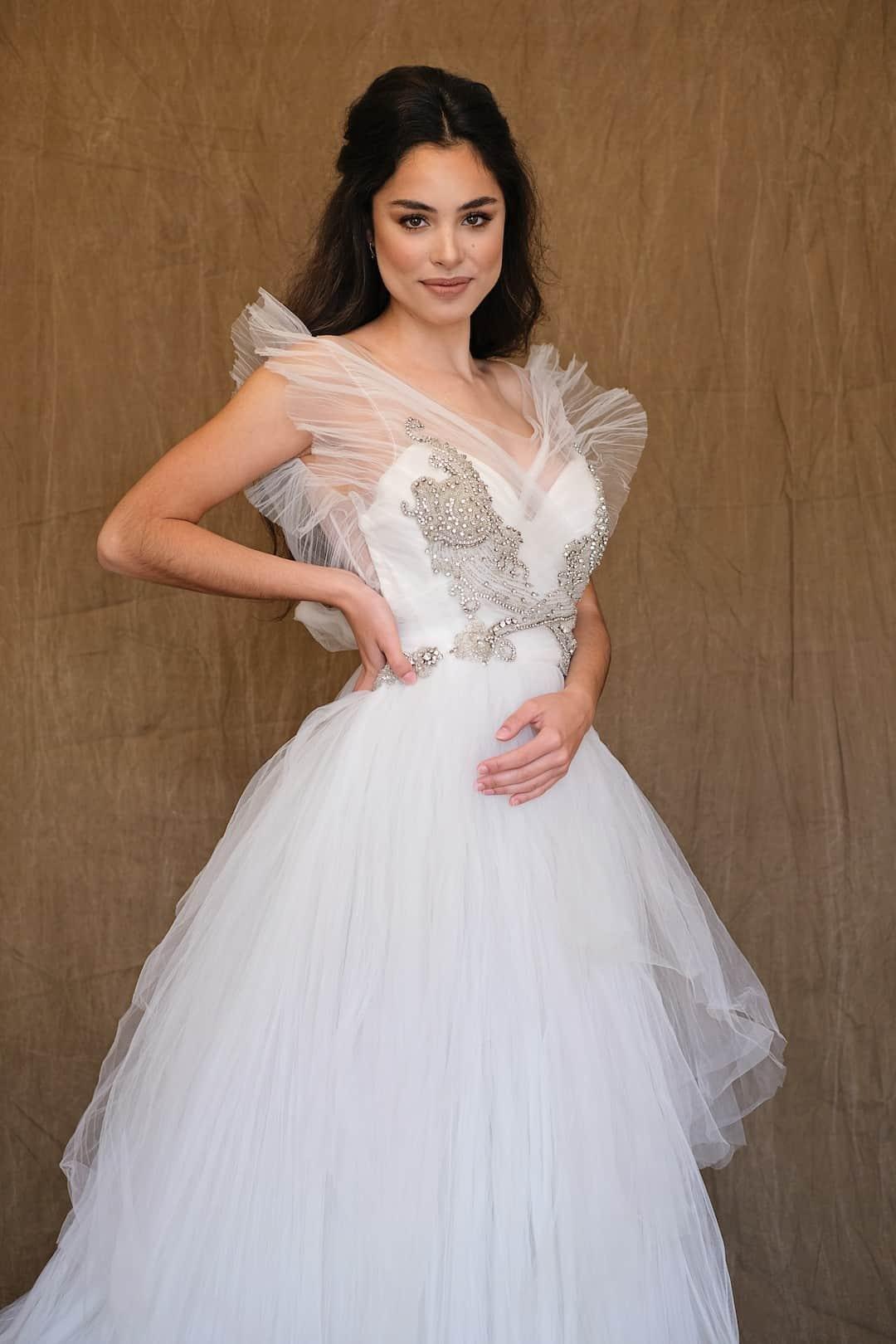 Romantic wedding dress - Marco&Maria - 14-1031-front-top
