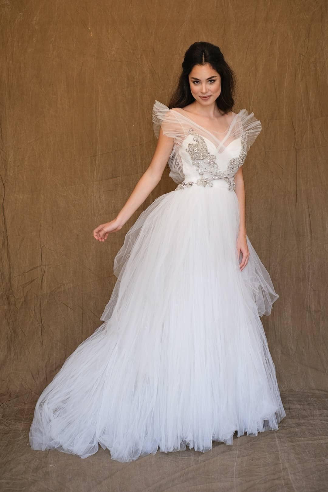 Romantic wedding dress - Marco&Maria - 14-1031-front