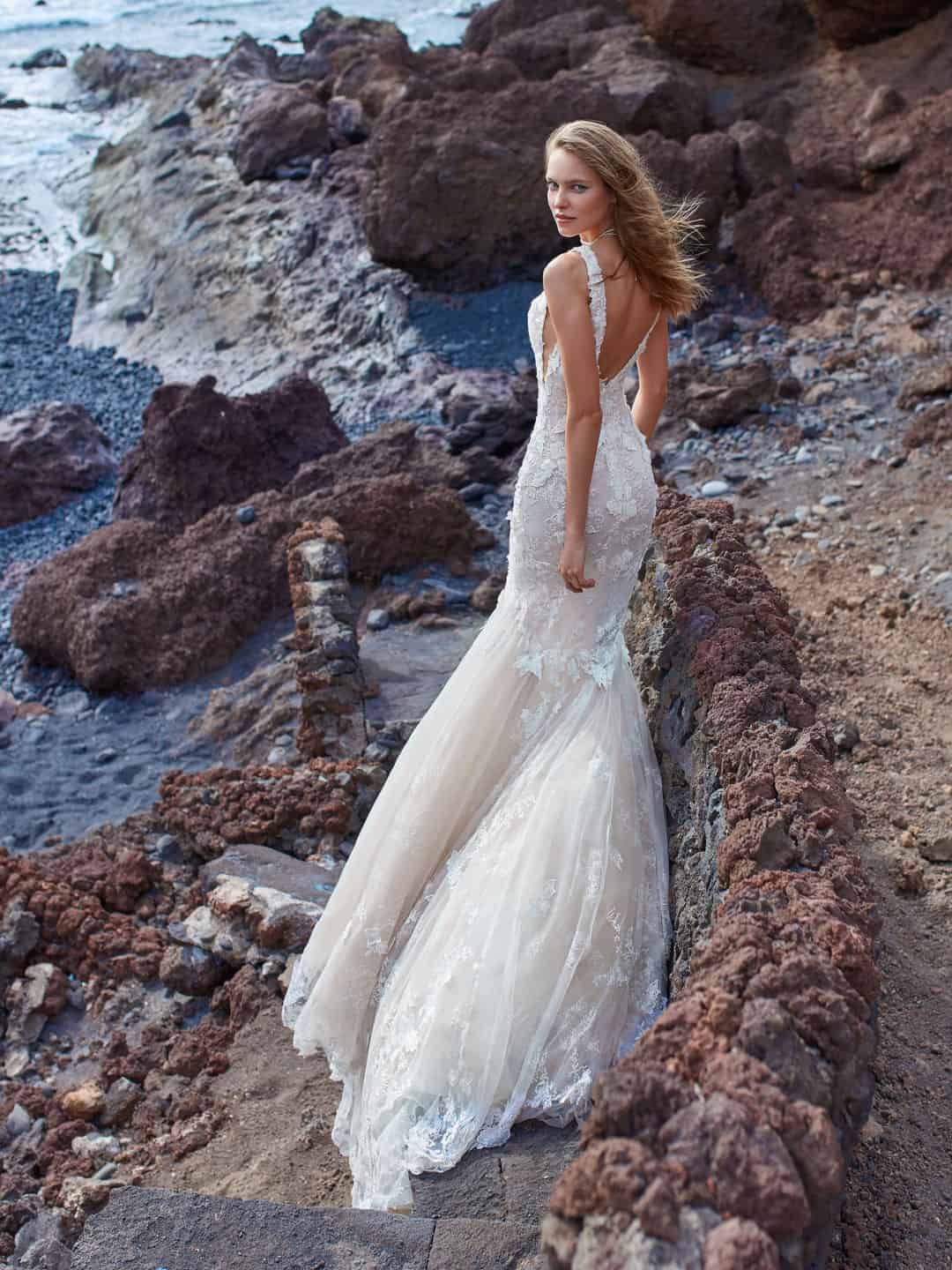 Haute Couture Wedding Dresses - GALA-1001-back