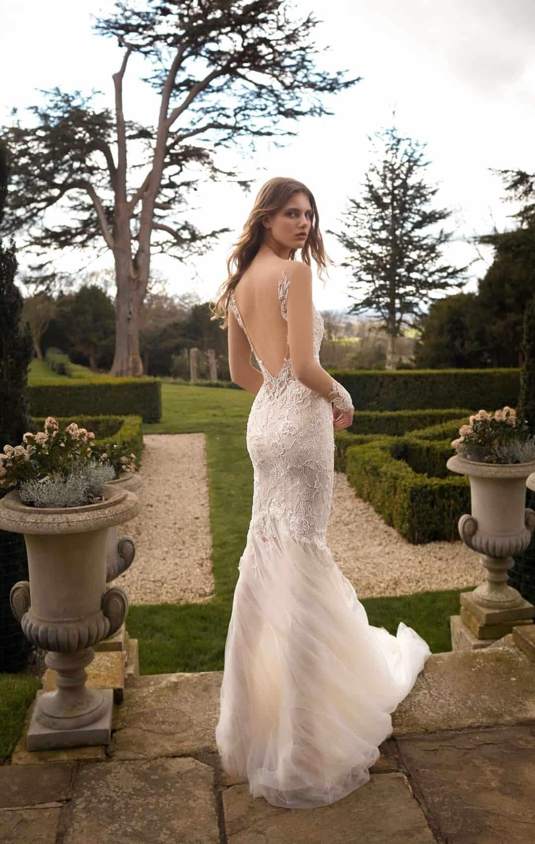 Exkluzívne svadobné a spoločenské šaty - G-510-B