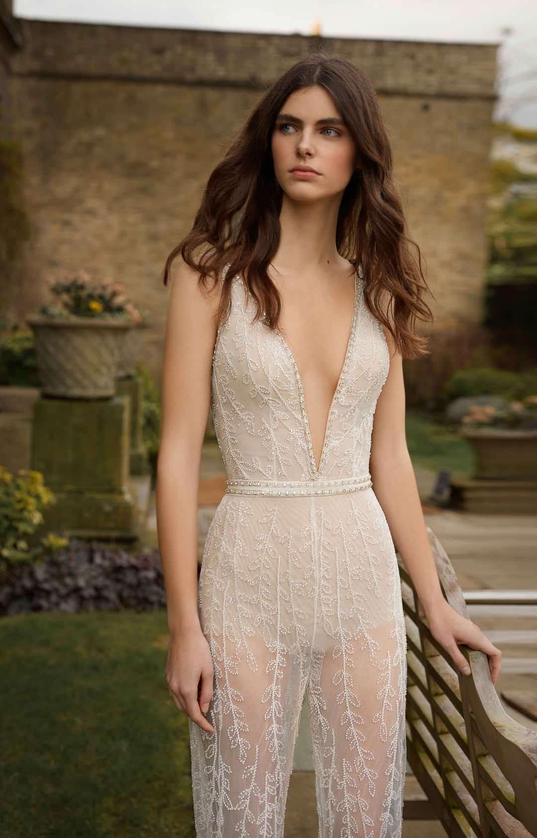 Exkluzívne svadobné a spoločenské šaty - G-514-Bodice&Pants