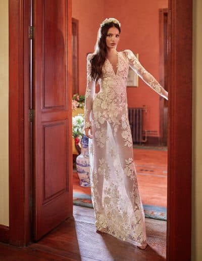 Galia Lahav Couture - Folrence by Night - Cherry Blossom front