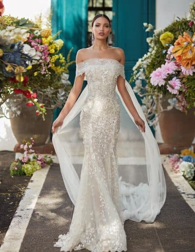Galia Lahav Couture - Folrence by Night - Juniper front