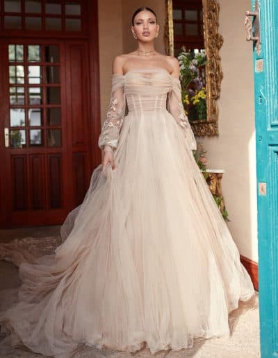 Galia Lahav Couture - Folrence by Night - Magnolia front 2