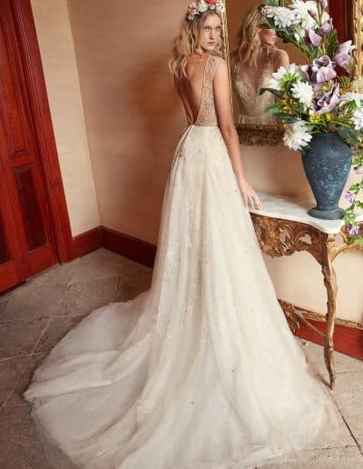 Galia Lahav Couture - Folrence by Night - Rose Water back