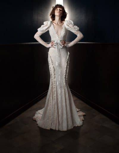 Galia Lahav Couture - Victorian Affinity - Charlie and Molly Belt Front