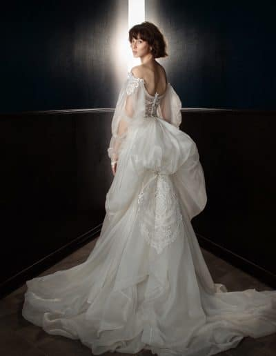 Galia Lahav Couture - Victorian Affinity - Thelma with Ossie Train Back