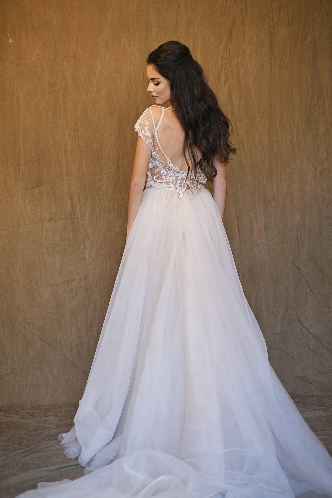 Haute Couture esküvöi ruhák - Galia Lahav - Gala 607 - back
