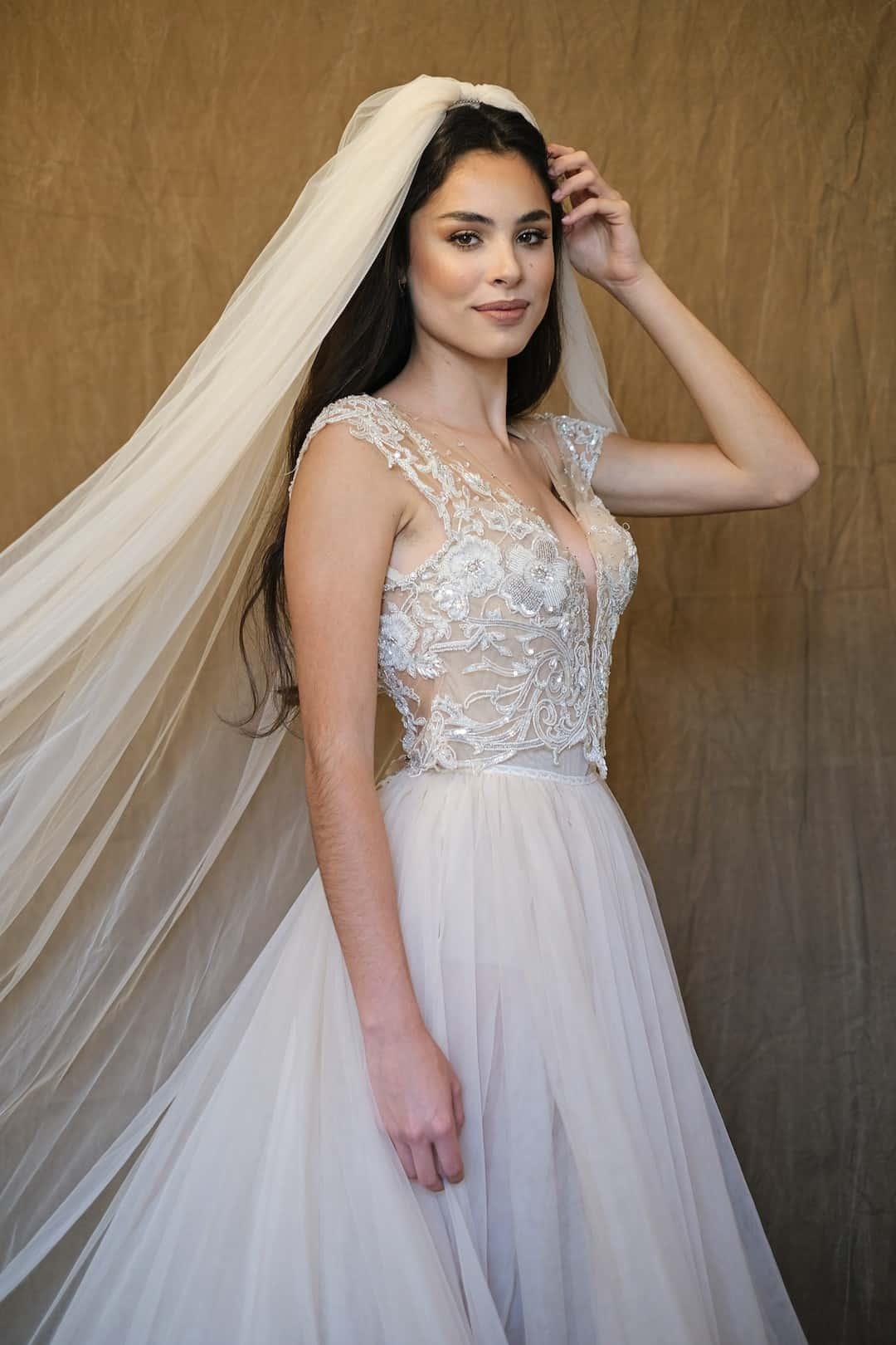 Haute Couture esküvöi ruhák - Galia Lahav - Gala 607 - front_top